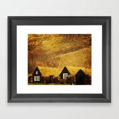 Turf Houses of Iceland Framed Art Print
