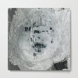 face texture white Metal Print