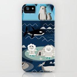 Arctic animals blue iPhone Case