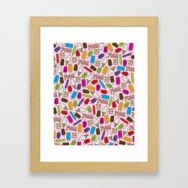 Ice Cream Doodles Framed Art Print