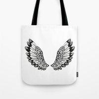 wings Tote Bags featuring wings by Li-Bro