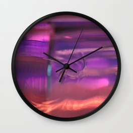 Purple, Orange and Red Abstract Wall Clock