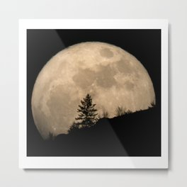 Super Moon Landscape Metal Print