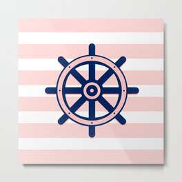 AFE Nautical Helm Wheel 2 Metal Print