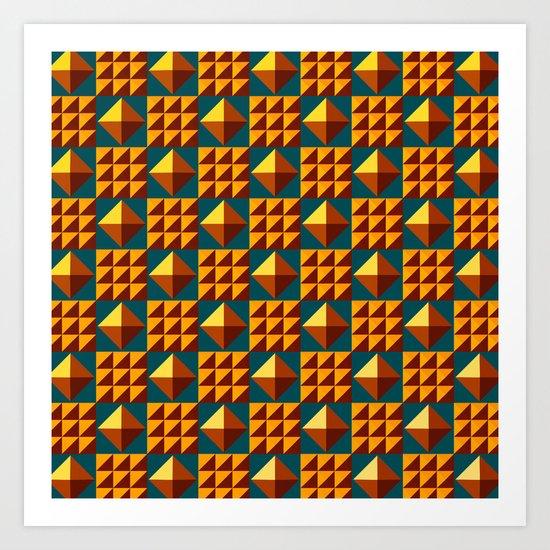 More Pyramid Patterns Art Print