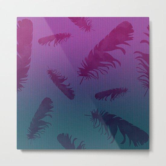 Falling Feathers Metal Print