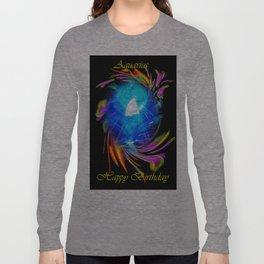 Zodiac sign Aquarius  Happy Birthday Long Sleeve T-shirt