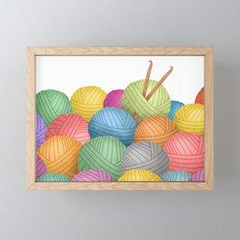Two Crochet Hooks And A Lot Of Yarn Framed Mini Art Print