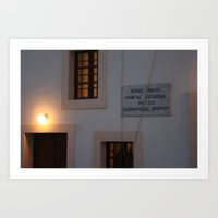 Greek Church Bells Art Print
