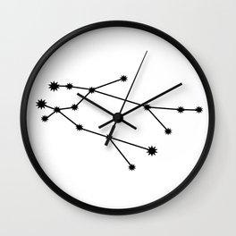 Gemini Astrology Star Sign Minimal Wall Clock