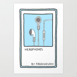 HEADPHONES Card Art Print