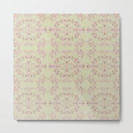 silver filigrane- floral design-tapestry and home decor-romantic Metal Print