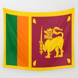 Flag of sri Lanka -ceylon,India, Asia,Sinhalese, Tamil,Pali,Buddhist,hindouist,Colombo,Moratuwa,tea Wall Tapestry