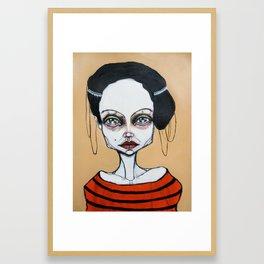 black orange stripes Framed Art Print
