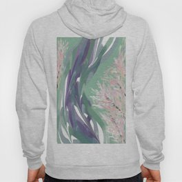 Deep Ocean River Abstract In Soft Green and Purple Hoody
