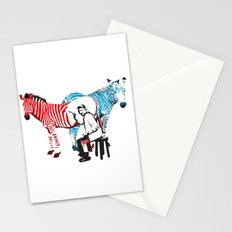 Zebra Painter print Stationery Cards