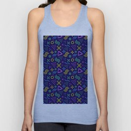 Retro 80s Shapes Pattern Unisex Tank Top
