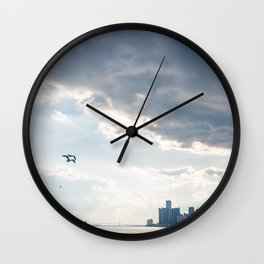 Detroit State of Mind Wall Clock