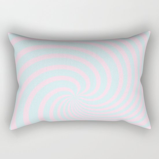 Swirl 60ies in pink and aqua - Circles on #Society6 Rectangular Pillow