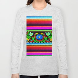 Serape and Flowers Long Sleeve T-shirt