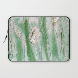 Spring garden in green and grey Laptop Sleeve