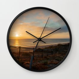 Cape Cod- Sunrise over Nauset Beach Wall Clock