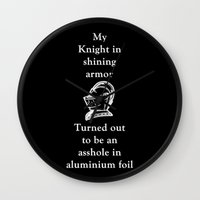 knight Wall Clocks featuring KNIGHT by I Love Decor