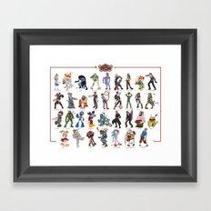 ZOMBIE ALL STARS Framed Art Print