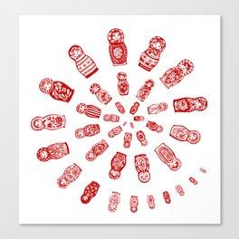 Matryoshkas'  Spiral Canvas Print
