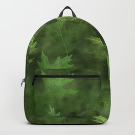 Green Shimmer Layered Leaves Fall Autumn Backpack