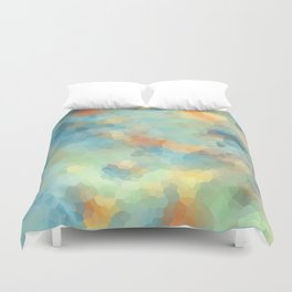 """Colored crystals . """"Sunbeams"""" . Duvet Cover"""
