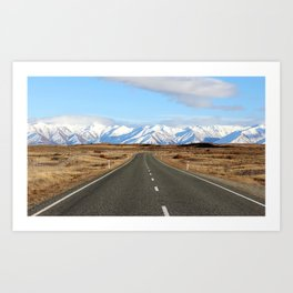 White Cap Journey Art Print