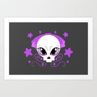 pastel goth Art Prints featuring Starstruck Pastel Goth by JadedZombieInk