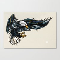 eagle Canvas Prints featuring Eagle by Andreas Preis
