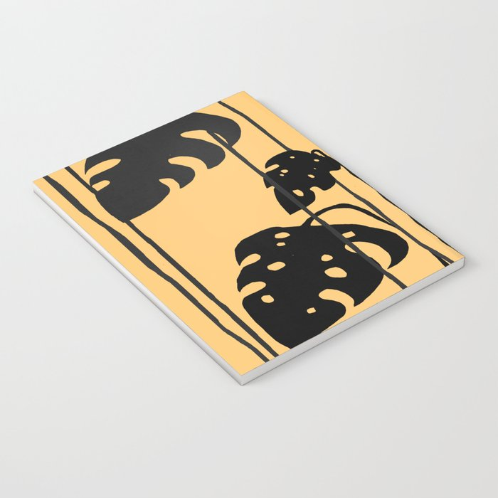 gold and black leaves Notebook