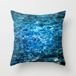 Water Color - Blue Throw Pillow