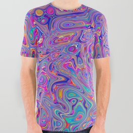 Neon melt All Over Graphic Tee