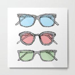 Three Glasses Sketch Metal Print
