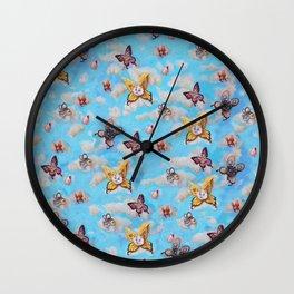 Cat Fairies print Wall Clock