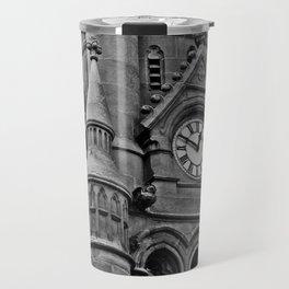 B&W Clock Tower Travel Mug