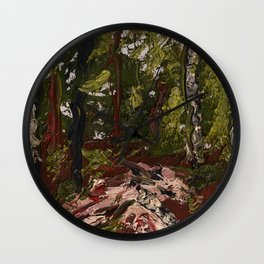 Sunlight In the Forest Wall Clock