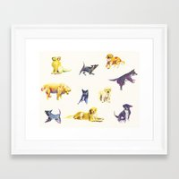 puppies Framed Art Prints featuring Puppies! by ascaliers
