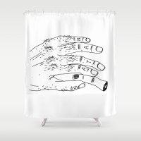 satan Shower Curtains featuring Satan by Sparganum