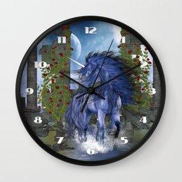 Blue Unicorn 2 Wall Clock