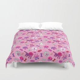 Pink, Purple, & Puppies Duvet Cover