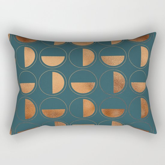 Copper Circles Art Deco on Emerald by betterhome