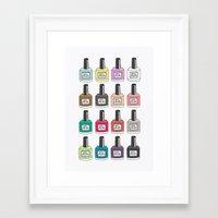 nail polish Framed Art Prints featuring Nail Polish-holic by uzualsunday