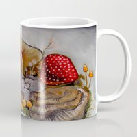 alice in wonderland Mugs featuring Wonderland by HeatherIRELANDArtz