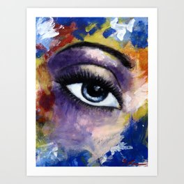 Title: Very Beautiful Eye painting Art Print