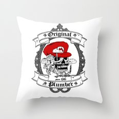 Original Plumber Throw Pillow